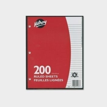 Hilroy Loose Leaf Lined Paper 200 sheets