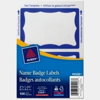 Avery Name Badge Blue 100pk