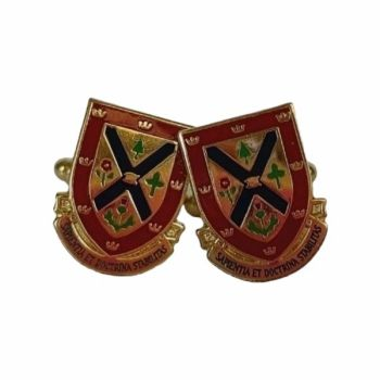 Cufflinks Coat of Arms Colour